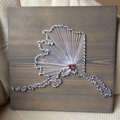 Wood Nails String Art And Alaska On Pinterest