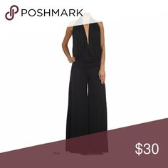 Black Halter Pleated Pant Sexy Cocktail Jumpsuit S Black Halter Pleated Pant Sexy Cocktail Jumpsuit S Made of polyester spandex  Size small Elastic waist and open back. Sexy Diva Pants Jumpsuits & Rompers