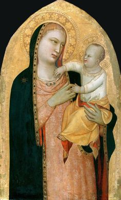 Maso di Banco Madonna and Child 1335 Staatlische Museen, Berlin 11.jpg