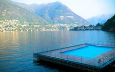 It doesn't get much better than a pool floating on the incredibly picturesque Lake Como. This is another one you'll need a room reservation for, but the view alone is totally worth it.