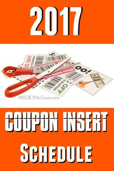 View the full Coupon Insert Schedule 2017 to see what coupons will be in your Sunday Newspaper each week.