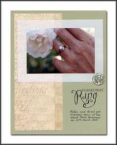 My Engagement Ring Quotes 8 Wedding Scrapbook Pages, Wedding Titles, Wedding Album, Scrapbook Albums, Scrapbooking Layouts, Wedding Cards, Our Wedding, Picture Scrapbook, Wedding Ideas