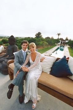 Jane and Domenico tied the knot on the party isle of Ibiza and ended their perfect day dancing until dawn