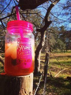 iced tea & homegrown mason jar cup! {junk gypsy co}