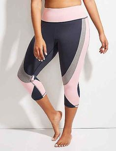 08bbe35a087 Wicking Active Dance Capri Legging with Mesh