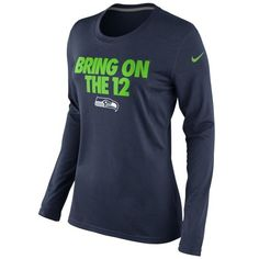 Nike Seattle Seahawks Ladies Bring On The 12 Local Long Sleeve T-Shirt - College Blue