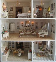 Post with 31 votes and 2369 views. Tagged with , Creativity, , ; Shared by thoughtcrimeo. Linda Carswell's 'La Petite Maison' - /r/dollhouses My Doll House, D House, Barbie House, Doll Houses, Miniature Rooms, Miniature Houses, Dollhouse Dolls, Dollhouse Miniatures, Dollhouse Ideas