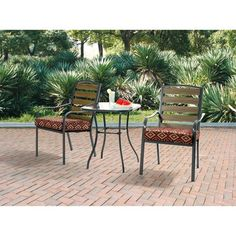 Jackson Meadows Endurowood 3 Piece Chairs & Table Outdoor Furniture Bistro Set, Seats 2 Mainstays http://www.amazon.com/dp/B00KCR9C28/ref=cm_sw_r_pi_dp_1jUmvb1AR9TS3