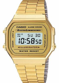 Casio Classic Timepiece Watch - Gold Unisex classic styled Casio watch