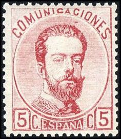 REINADO DE AMADEO I - AÑO 1872. Corona real, Cifras y Amadeo I (1 parte).