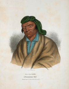 Ma-ga-zee, a Pottawatomie Chief. From New York Public Library Digital Collections. Native American Indians, Native Americans, Woodland Indians, New York Public Library, History Books, First Nations, Nativity, North America, Michigan