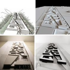 Urban Project model and drawings by porterarquitectos students Urbane Analyse, Plan Maestro, Urban Design Plan, Arch Model, Urban Architecture, Concept Models Architecture, Drawing Architecture, Master Plan, Urban Planning