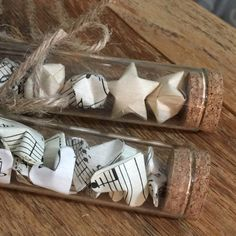Such a cute idea! Test Tube of 3D Origmi Hearts or Stars by MamaVonVintage on Etsy