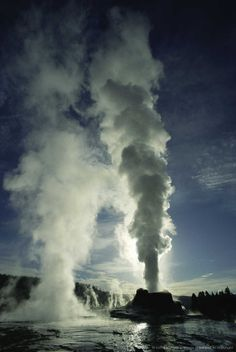 Image detail for -Castle Geyser ,Yellowstone National Park ,Wyoming
