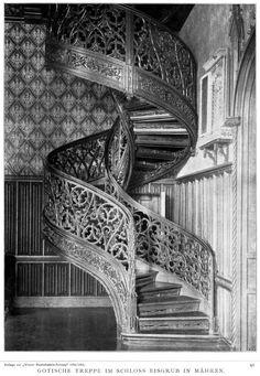 The Gothic Staircase at Castle Eisgrub, Czech Republic