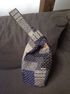A personal favourite from my Etsy shop https://www.etsy.com/listing/526107018/japanese-boro-knot-bag-hand-made-blue