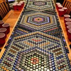 Beer cap table!