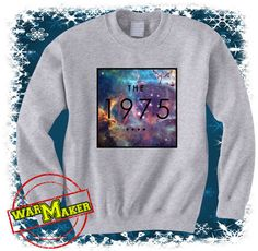 the 1975 shirt the 1975 square logo galaxy sweatshirt by warmmaker