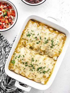 Green Chile Chicken Enchiladas Recipe - Budget Bytes
