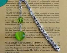 Cats eye charm beaded bookmark green glass heart silver tone shepherds hook book accessory crystal and glass book lover gift handmade in USA by maggiemaybecrafty. Explore more products on http://maggiemaybecrafty.etsy.com