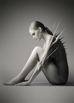 Aggressive extension of the body. Spikes. Designer unknown.