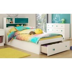 Found it at AllModern - Little Monsters Twin Mate's Bed with Storage