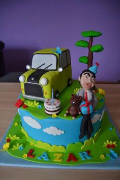 Bean cake by Zaklina Mr Bean Cake, Bean Cakes, Mr Bean Birthday, 2nd Birthday, Birthday Ideas, Rugby Cake, Mr Bean Cartoon, Mr. Bean, Cartoon Birthday Cake