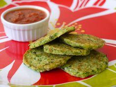 Green Veggie Pancakes on Weelicious
