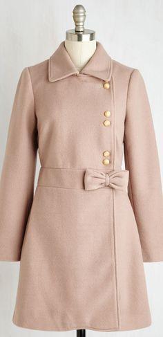 blush bow coat
