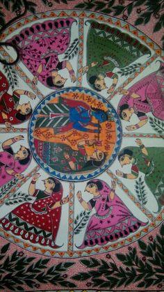 Raas madhubani painting by Aparajita sharma