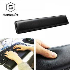 Sovawin Leather Keyboard Wrist Rest Pad Gamer PC Handguard Comfortable Ergonomic Game Large Mat cm for Computer Large Mats, Office Setup, Office Fun, Pad, Ergonomic Mouse, Diy Toys, Problem Solving, Happy Shopping, Keyboard