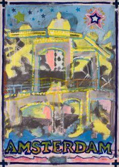 "Saatchi Art Artist Borai Kahne Ateliers; Painting, ""European Capital Cities - Amsterdam"" #art"