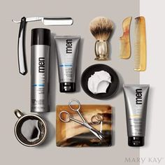 MK Men grooming set is just what your guy needs. Luxurious, foaming shaving cream and cooling after shave gel make the perfect combo! Mary Kay Ash, At Play Mary Kay, Mary Mary, Mary Kay Cosmetics, Cc Cream, Spa Facial, Facial Scrubs, Facial Cleanser, Facial Masks