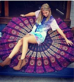 Check out this item in my Etsy shop https://www.etsy.com/uk/listing/467185687/indian-mandala-round-roundie-beach-throw