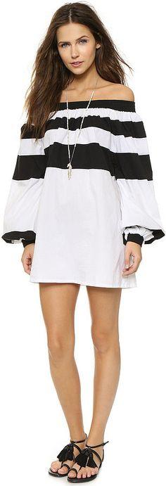 MLM Afar Off Shoulder Mini Dress ($175)