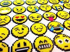 Emojis perler beads by kylemccoy