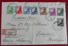 GERMANY 3rd REICH 1937 Registered Cover to Holland w/Airmail Issue to 100Pf | eBay - £3.95