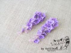 P5012467 - clay flower drop/dangle earrings