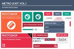 Metro UI Kit Vol.1