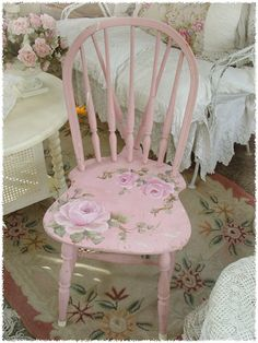 DIY paint idea for pink chair