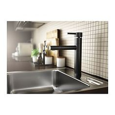 HOVSKaR Single lever kitchen faucet - black - IKEA