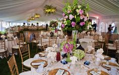 what you can do with tent decorations- creating visual line of sight