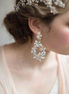 Opal Earrings, Teardrop Earrings, Bridal Earrings, Chandelier Earrings, Bridal Jewelry, Bridal Hair Accessories, Earring Backs, Fashion Earrings, Swarovski Crystals