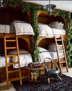 Festive bunk beds. 21 best Christmas decors on Instagram.