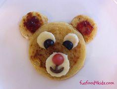 Teddy bear crumpet - including homemade crumpet recipe.
