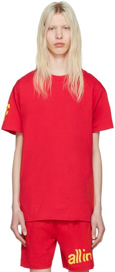 all in - Red Champion Edition Logo T-Shirt