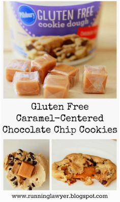 """Gluten-Free caramel-Centered Chocolate Chip Cookies from """"Running From the Law"""""""
