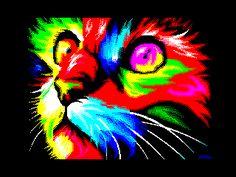 Cat - dman  ZX Spectrum 8-bit pixel art  http://zxart.ee/eng/graphics/