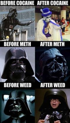 Darth Vader - Before and After - More at: Pooping by Laughing