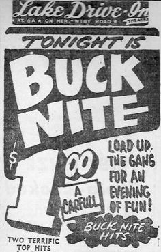 pictures of drive in movie theaters from 1950's | Theaters - WATERBURY TIME MACHINE III